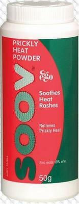 50 gram Ego SOOV Prickly Heat Powder Relieves Itching - Exp 03/2020 SHELF STOCK