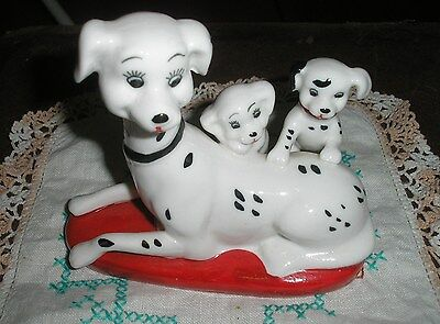 Dalmation Dog With Puppies Ornament Figurine
