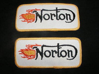 Vintage Norton Motorcycles Sew On Iron on Patch Badge x 2