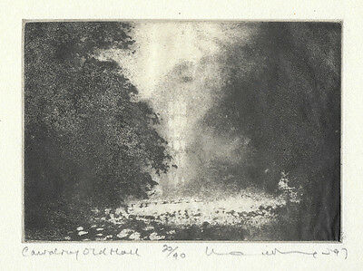Norman Ackroyd RA Original Etching 1997 pencil signed numbered Edition 90 Sussex