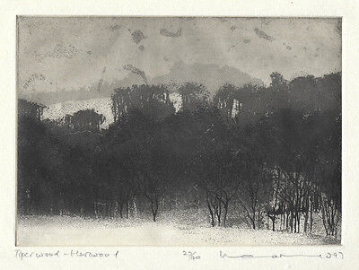 Norman Ackroyd Original Etching 1997 pencil signed numbered Edition 90 Yorkshire