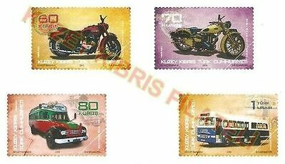 """Turkish Cyprus Zypern 2012 """"Old Buses and Motorcycles"""" MNH"""