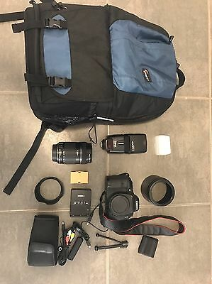 Canon 7D Pack, Lowe pro Bag Lenses Flash Accessories