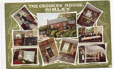 """""postcard Multiview The Crooked House,himley.nr.wolverhampton,staffs,dated 1906"