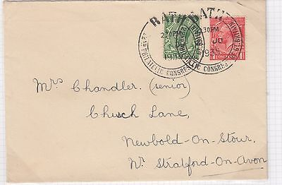 1935 Philatelic Congress Bath cover with KGV ½d green and 1d red with 1935 Congr