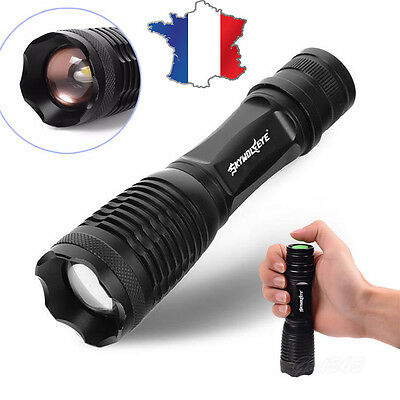 4000LM cree T6 tactical led lampe de poche zoomable rechargeable 5 modes torche