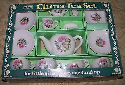 Vintage Child's Porcelain Teaset In Original Box - Ideal To Display With Dolls