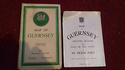 guernsey map vintage bundle