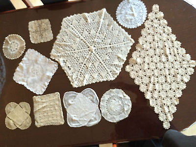 Lot Of 10 Vintage Deceased Estate Hand Crochet Doilies From The 1970's #4