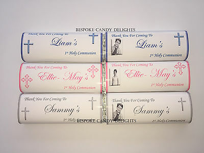 40 Personalised 1st Holy Communion Chocolate Bar WRAPPERS  Favour, Favours SC