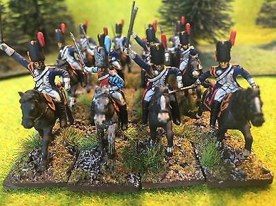 1/72 Napoleonic plastic painted French Guard Horse Grenadiers