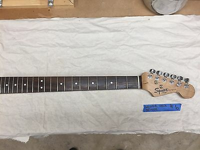 Fender Squier Electric Guitar Neck Maple-Rosewood Strat- Project Parts #6