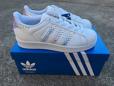 3242964e0db ... discount adidas superstar 3d hologram iridescent limited edition us  women teen size 4 8 79503 7ad04