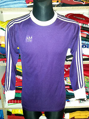 VINTAGE 1980s ADIDAS SHIRT SIZE 5/6 MADE IN WEST GERMANY TRIKOT PURPLE f670