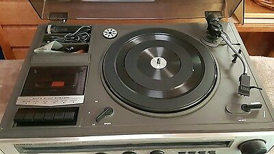 Vintage Sanyo Stereo  DXT 5006K Amp Radio Receiver Turntable Cassette Recorder