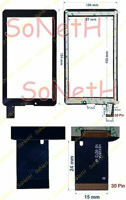 """Vetro Touch screen Digitizer 7,0"""" Majestic TAB-387 3G Tablet PC Nero"""
