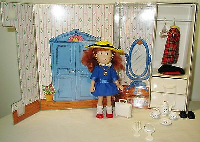 """6.5"""" Madeline Doll Toy 1999 EKC + Storage Carry Case Clothes Play Set 1995 Eden"""