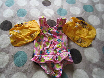 Girls Floaties Swim Suit Age 1 To 2 12 To 24 Months