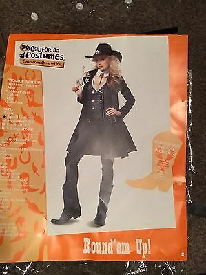 Sheriff Women's Outfit Uk Size 8/10 Complete With Hat