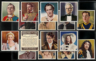 "Phillips 1938 Superb ( Film Star ) Full 36 Card Set "" Characters Come To Life """