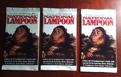 National Lampoons Card Packs x 3