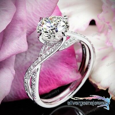 1 Ct Round Cut Solitaire Engagement Wedding Ring Solid 14K White Gold