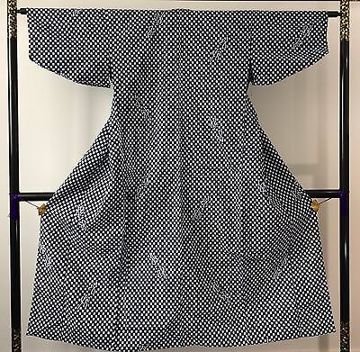 Authentic Japanese blue & white cotton yukata for women, Japan import (J1089)