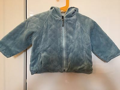 Burberry Velour Quilted Toddler Jacket/Coat - With Hood - Size 12 Months