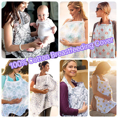 3 in1 Breastfeeding 100% Nursing Maternity Pram Cover Blanket 100x70cm Sunshade