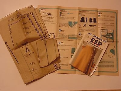 1977 Vintage Simplicity E.S.P. 8112 Mock Wrap Skirt Sewing Pattern Size 10 12 14