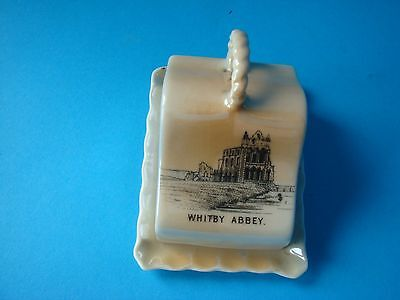 Vintage Gemma Crested Miniature Cheese Dish - Whitby Abbey