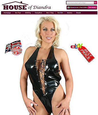 Pvc Tie Front Body in Black / Red / Pink (S1204)
