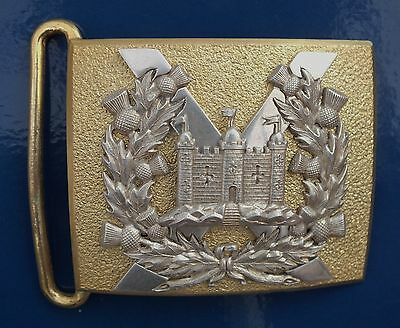 A King's Own Scottish Borderers Officers Dirk Belt Plate.