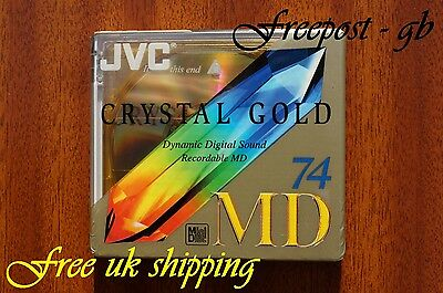 A Jvc Recordable Blank Minidisc - 74 Minutes Crystal Colours  - Brand New Boxed