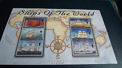 Turks & Caicos Stamps Ships of the World  mini sheet 6 mint stamps 50c each