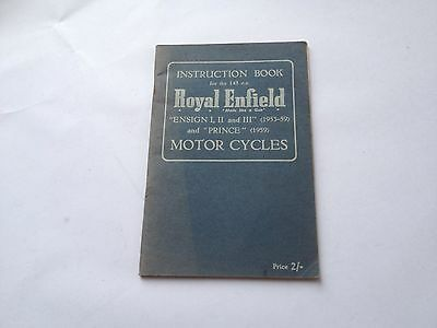 Royal Enfield Ensign And Prince Instruction Book