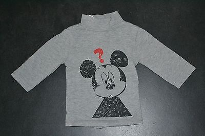 T-shirt longues manches/sous pull Mickey (Disney) - 1 mois