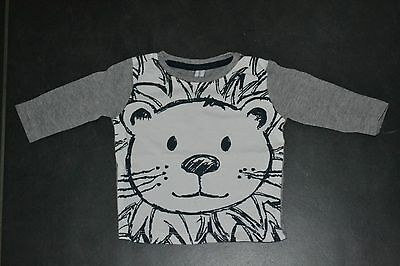 T-shirt longues manches/pull lion - taille 56