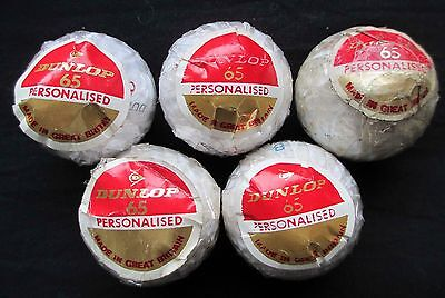 Vintage Golf Balls - Dunlop 65 Personalised Lot Of 5 - Wrapped
