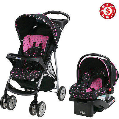 Baby Stroller and Car Seat 3in1 Travel System Infant Carriage Buggy Bassinet Set