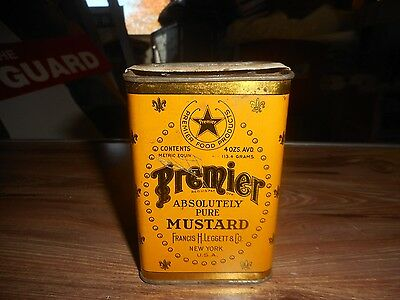 Vintage Tin of Premier Absolutely Pure Mustard