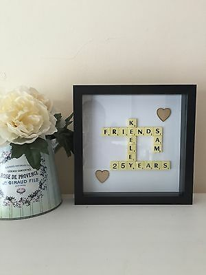 Scrabble Personalised Picture Art Frame