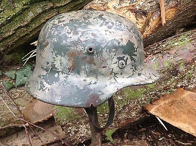 Ww2 German Combat Infantry Helmet With Liner And Chin Strap