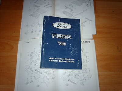 Ford Parts Catalogue Fiesta 1989  inc XR2i and RS