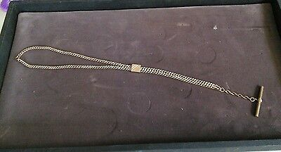 Vintage T bar  Pocket Watch Slide Chain