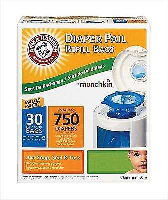 Munchkin Arm And Hammer Diaper Pail Refill Bags, 30 Count by Munchkin