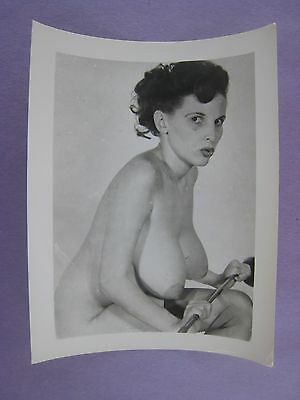Original 1950S Pinup Photo..5 X 4 ...nice !...# K-2..nude,risque..donna Brown