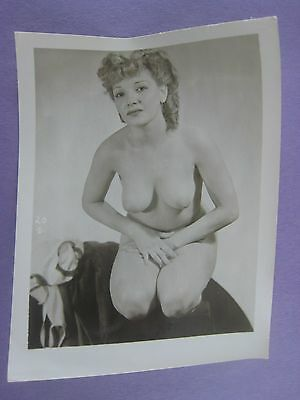 Orig. 1950S Pinup Photo..5 X 4 ...nice !...# Bb-17..nude,risque..