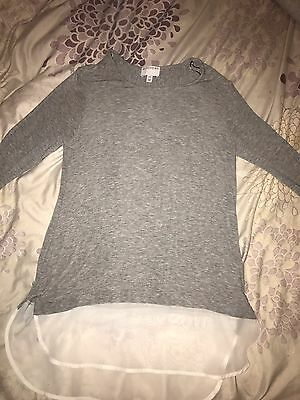 Witchery Casual Work Sweater Jumper Size 6 (xxs ) Grey And White