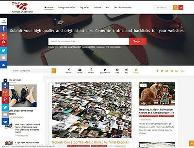 The Best Article Directory website for sale Start Online Business Make Money